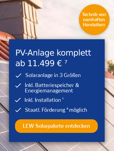 LEW Solarpakete Popup Rabattaktion Mobile